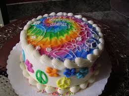Tie Dye Birthday Cake Designs Veronicas Sweetcakes 83 Kids Tie Dye Flower Power