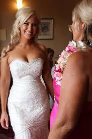 Stunning Zoe wearing her Jaton inspired Gown custom made to.