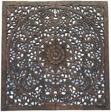 elegant wood carved wall plaque wood carved floral wall art asian home decor wall art panels bali home decor 48 available in black wash dark brown  on teak wall art panels with hand carved teak wood lotus wall panels thailand liked on