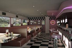 Inside of an American diner, Bob Morris' Beach caf, Malibu Beach,  California