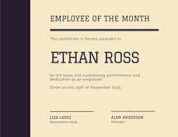 Employee Of The Month Template With Photo Customize 1 508 Employee Of The Month Certificate Templates Online