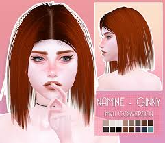 Down With Patreon - The Sims 4 Patreon Namine Hair | Sims 4, Sims, Sims cc