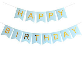 Banner Birthday Amazon Com Innoru Happy Birthday Banner Blue And Gold Letters