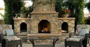 authentic outdoor fireplace