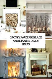 Fireplace Decor Ideas Ating Christmas With Tv Decorative Screens.  Decorative Fireplace Logs Australia Mantel Decor With Tv Ideas.