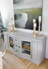 Chalk Paint And Dark Wax Buffet Table Makeover Sand And Sisal