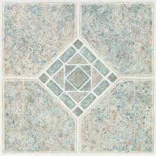 style selections 1 piece 12 in x 12 in basil l and stick pattern vinyl tile