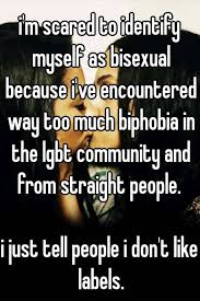 Don't like labeling myself bisexual