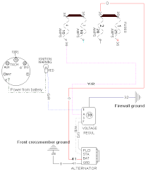 late alternator wiring dash indicator wiring diagram