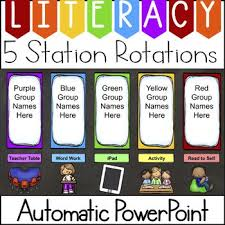 Reading Center Rotation Chart Guided Reading Center Rotation Chart Automatic Powerpoint