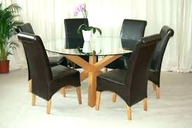 round 6 chair dining table glass table with 6 chairs golden brown round dining room table