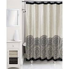 black and white shower curtains. Essential Home Peva Shower Curtain - Black And White Medallion Curtains