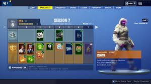 Fortnite Season 4 Level Chart Fortnite Season 7 Battle Pass Rewards Fortnite Wiki Guide
