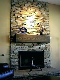 removing stone fireplace fake faux stacked best fireplaces ideas on