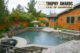 residential pool designs. residential design of 2007 trophy award cast champions pool designs