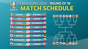 MATCH SCHEDULE: UEFA EURO 2021 (2020) ROUND OF 16