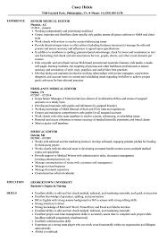 Medical Editor Resume Samples Velvet Jobs