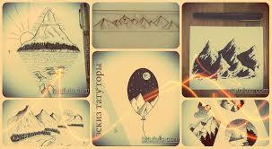 эскизы тату горы оригинальные рисунки для нанесения татуировки и