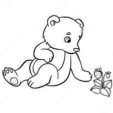 Kleine Schattige Baby Beer Stockvector Dejachthoorn