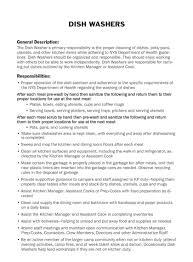 Dishwasher Job Description For Resume Dishwasher Job Description For Resume Perfect Resume 24 5