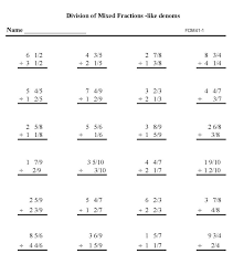 Math Worksheets Grade 8 Fractions | Homeshealth.info