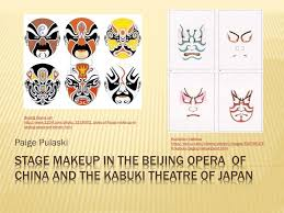 se makeup in the beijing opera of china and the kabuki theatre of an powerpoint presentation
