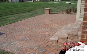 paver brick patio installation in
