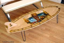 surf board coffee table leisure lounge tables