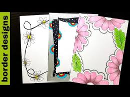 Floral Border Designs On Paper Border Designs Project Work Designs Borders For Projects