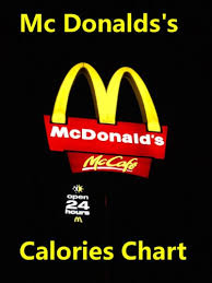 Mcdonald S Menu Calorie Chart Mcdonalds Calories Chart Nutritional Facts Menu Information
