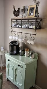 View in gallery Small coffee station with a rustic look