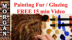 glazing techniques oil painting how to paint fur hair tutorial jason morgan wildlife art you