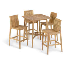 oxford garden islay 5 piece 36 inch square bar set no cushion