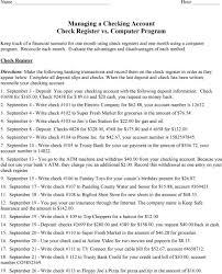 Order Check Registers Managing A Checking Account Check Register Vs Computer Program Pdf