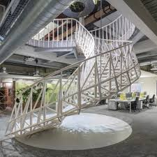 architect office interior. sweeping staircase forms centrepiece of engineering office by studio ben allen architect interior