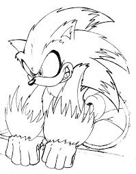 Sonic Coloring Pages To Print Sonic The Hedgehog Coloring Pages