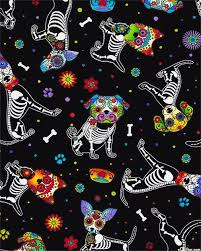 261 best Holidays & Celebrations images on Pinterest ... & Day of the Dead Pups - Black Quilt fabric online store Largest Selection,  Fast Shipping, Best Images, Ship Worldwide Adamdwight.com