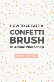 Confetti Brush Photoshop Create A Confetti Brush In Photoshop Elan Creative Co