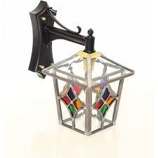 porlock leaded stained glass outdoor wall lantern