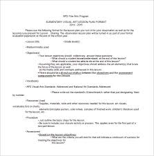Lesson Plans Formats Elementary Art Lesson Plan Template 12 Free Psd Word Format Download