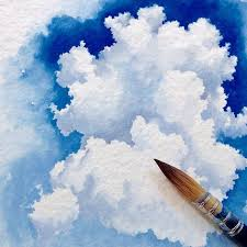 watercolor city the most perfect clouds i done ever seen s