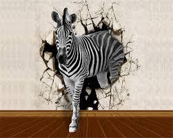 Beibehang Behang Voor Muren 3 D Behang Muur Zebra Houten Vloeren