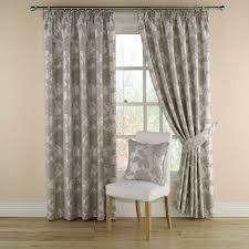 montgomery ci grey lined pencil pleat curtains 229cm wide