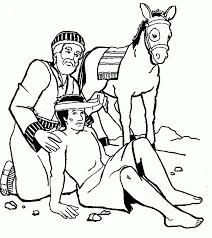 The Good Samaritan Coloring Page Good Coloring Page Good Drawing