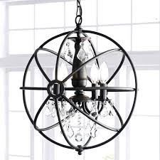 charming 4 light metal orb chandelier with clear glass crystal accent decor large world market fabulous