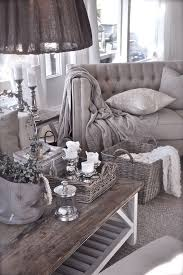 French cottage-style living room in tones of taupe and grey looks refined  and chic