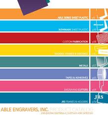 Rowmark Ada Alternative Color Chart Engraving Supplies Catalog Free