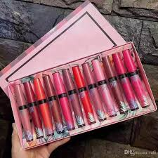 2018 new in makeup arrvial pink box secret brand velvet matte cream liquid lipgloss with 10 29 piece on rafi s dhgate