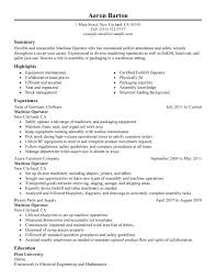 Resume Templates Extrusion Operator Warehouse Production Operator ...