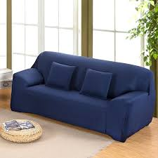 navy blue sofa all inclusive full cover slip stretch fabric elastic single two three four seat navy blue sofa